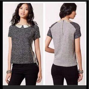 Anthropologie Postmark Gray Knit Top